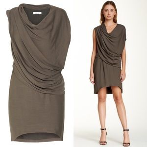 Helmut Lang Prism Drape Dress